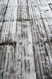 Frost on wood. Wood decking covered in frost Stock Photography