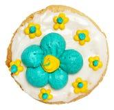 Frostad kaka för vårtema   Royaltyfri Foto