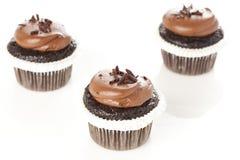 Frostad muffin för choklad Arkivbilder