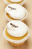 Frostad muffin för vanilj Royaltyfri Fotografi