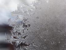 Frostade fönster royaltyfria foton