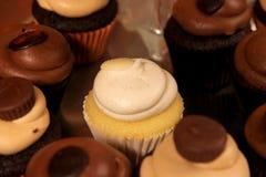 frostade muffiner Fotografering för Bildbyråer