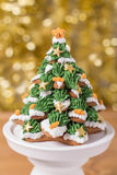 Frostade pepparkakakakor Royaltyfria Bilder