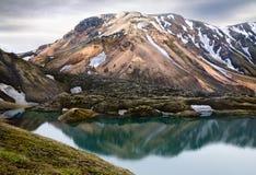 Frostastadarvatn lake in Landmannalaugar Royalty Free Stock Image