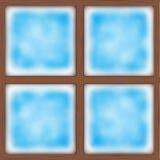frostat fönster också vektor för coreldrawillustration royaltyfri illustrationer