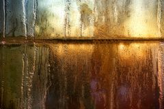 frostat förser med rutor fönstret Royaltyfri Foto