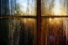 frostat förser med rutor fönstret Royaltyfri Fotografi