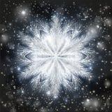 Frostat snöflingakort, vektor vektor illustrationer