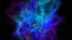 Frostbewegungsexplosion des blauen, purpurroten und cyan-blauen Pulvers und der Farbe für Holi lizenzfreies stockfoto