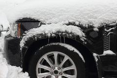 Frostbite by car Stock Image