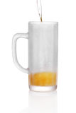Frosted beer glass Royalty Free Stock Photos