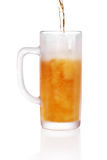 Frosted beer glass. Pint of beer served in a frosted stein glass Royalty Free Stock Photo