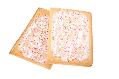 Frosted breakfast pastries, isolated royalty free stock photo