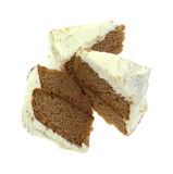 Frosted Carrot Cake Slices Stock Image