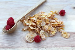 Frosted cereal and fresh fruit Royalty Free Stock Images