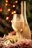 Frosted champagne on New Year's Stock Images