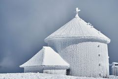 Frosted chapel on the top Royalty Free Stock Photo