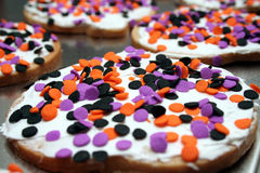 Frosted Cookies with sprinkles Stock Photos