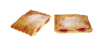 Frosted Cream Cheese Strawberry Pastry Sliced Royalty Free Stock Images