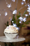 Frosted cupcake Royalty Free Stock Images
