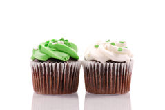 Frosted Cupcakes Stock Photography