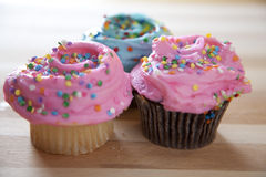 Frosted cupcakes Royalty Free Stock Photography