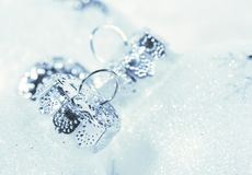 Frosted decorations for Christmas Royalty Free Stock Photo