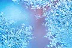 Frosted designs on glass Stock Photography