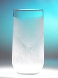 Frosted empty glass Royalty Free Stock Photo