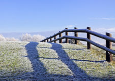 Frosted fence Royalty Free Stock Photography