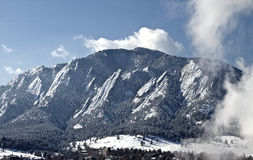 Frosted Flatirons Stock Photo