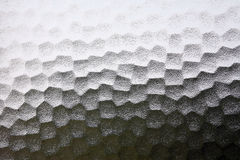 Frosted glass. With hexagon shapes Royalty Free Stock Image