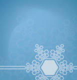 Frosted glass background with snowflakes Royalty Free Stock Photo