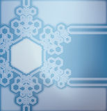 Frosted glass background with snowflakes. Christmas decorated frosted glass background with snowflakes vector illustration