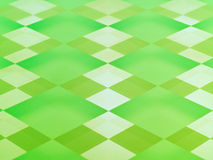 Frosted Glass Checkerboard in Lime Green. A glass checkerboard with clear and frosted squares with mirrored effect, tinted lime green Royalty Free Stock Images
