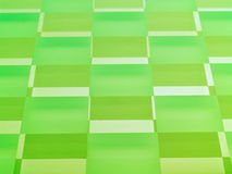 Frosted Glass Checkerboard in Lime Green. A glass checkerboard with clear and frosted squares with mirrored effect, tinted lime green Stock Photo