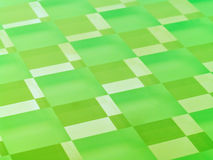 Frosted Glass Checkerboard in Lime Green. A glass checkerboard with clear and frosted squares with mirrored effect, tinted lime green Stock Images