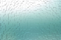 Frosted glass cyan color, 3d block style Royalty Free Stock Photo