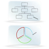 Frosted Glass Dry Erase Board Charts. An image of frosted glass dry erase board charts Royalty Free Stock Photo
