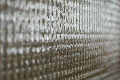 Frosted glass. Square-shaped frosted glass, perspective Royalty Free Stock Photo