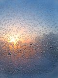 Frosted glass and sun Stock Image