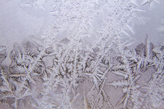 Frosted glass texture as background. Winter, cold weather concept Stock Photo