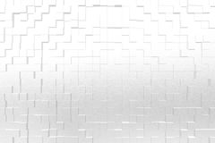 Frosted glass white color, 3d block style Royalty Free Stock Images