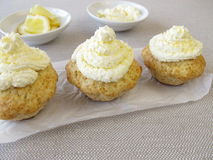 Frosted lemon cupcake Royalty Free Stock Photo