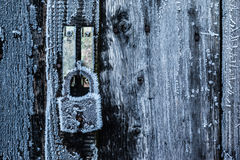 Frosted lock Royalty Free Stock Photography