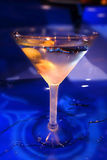 Frosted martini with olives in it Stock Image