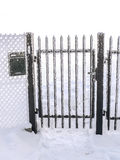 Frosted metal gate Stock Photos