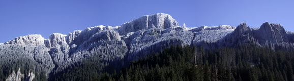 Frosted mountain ridge Royalty Free Stock Images