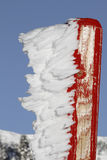 Frosted pole Royalty Free Stock Photography