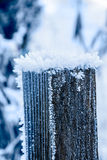 Frosted post Stock Photo